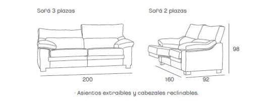 Sof florida venta de sof s menalib for Medidas sofa cama 2 plazas